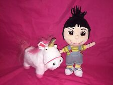 "Despicable Me lot of 2 Agnes 7"" Fluffy unicorn 6"" universal studios"