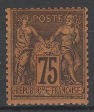 "FRANCE STAMP TIMBRE N° 99  "" SAGE 75c VIOLET SUR ORANGE "" NEUF xx TB  N949"