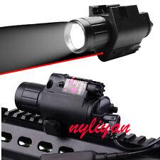 Combo Q5 CREE LED Flashlight&RED Dot Laser Sight 20mm rail For Rifle Gun Hunting
