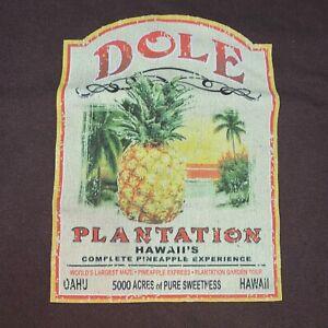 Large Vintage Brown Dole Tag Pineapple  Plantation Hawaii Shirt
