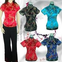 New  Women Chinese Style Tops Blouse Short Sleeve  T-shirt Retro SLim FIt  Vouge