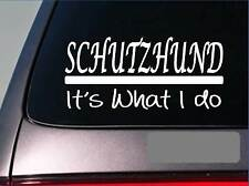 Schutzhund sticker decal *E282* german shepherd malinois k9 unit canine police