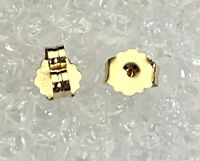 NEW Real 10k Yellow Gold Ultra-Lightweight Friction Earring Back 4.2 mm set of 2