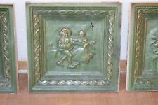 Kacheln grün Motiv 4 Kachelofen Ofenkachel Schmott Keramik Motivkachel