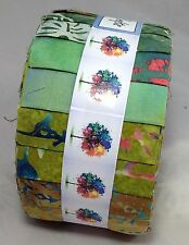 Forest Walk Bali Batik Jelly Roll 40 pc for craft & quilting  FREE AU POST