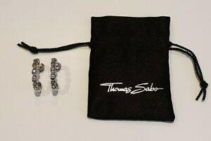 Thomas Sabo Sterling Silver Skull Hoop Earrings CR588-001-12