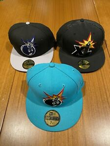 Mens hat cap new era bundle lot 3 fitted 7 1/4 The Hundreds X large streetwear