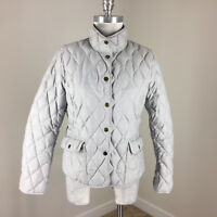 Eddie Bauer EB 550 Gray Down Fill Quilted Jacket Women's M p Excellent