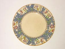 "Vintage 1930's  Enoch Woods Burslem England Forest Flowers 10"" Dinner Plate"