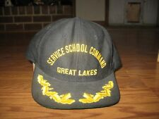 US NAVY GREAT LAKES SERVICES SCHOOL COMMAND SENIOR OFFICERS HAT CAP