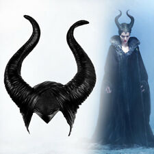 a9d523ae90b Women Latex Maleficent Horns Halloween Party Witch Cosplay Headpiece Hat