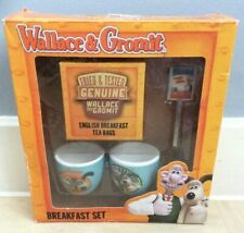 Easter Gift Collectable Wallace and Gromit - Breakfast Set  Egg Spoon Cups Boxed