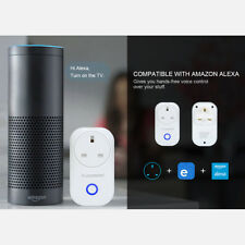 UK Plug Smart WiFi Wireless Socket Google Home+Alexa Remote Control Power Switch