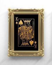 King Of Spades Art Print. Playing Card Art Print, Home Decor, Wall Art