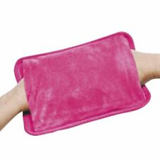 PINK RECHARGEABLE ELECTRIC HOT WATER BOTTLE BED HAND WARMER MASSAGING HEAT PAD