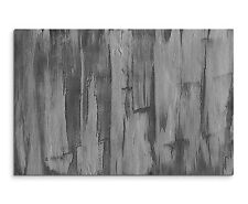 120x80cm Astratto_901 Nero Bianco Grigio Muro Pittura Crepe Tela Sinus Art