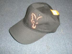 FOX Negro/Naranja Gorra Béisbol Pesca de Carpa Anzuelo