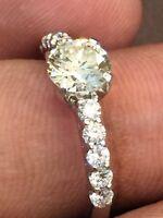 Pave 1,50 Cts Runde Brilliant Cut Diamanten Solitär Verlobung Ring In 18K Gold