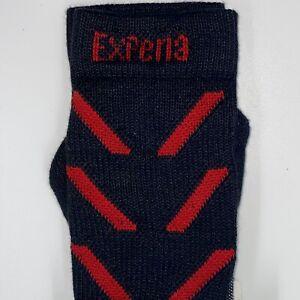 Thorlos EXPERIA Crew Socks Unisex Size XS Padded Coolmax in Black/Jet Red NWT