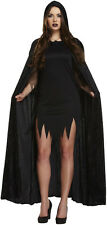 Black Devil Womens Halloween Fancy Dress Costume & Horn Headband Size 12-14