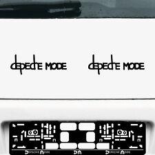 2 Aufkleber Tattoo 20cm schwarz Exciter Depeche Mode Auto Tür Fenster Deko Folie