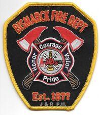 """Bismark  Fire Dept. - 1877, ND  (4"""" x 4.5"""" size)  fire patch"""
