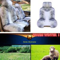 Hot ! Australian Sheepskin Fur Car 2 Front Seat Cover WARM WINTER 138 *63 cm