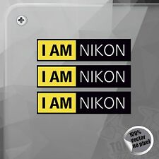 PEGATINA I AM NIKON VINILO VINYL STICKER DECAL AUTOCOLLANT