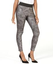 INC International Concepts Women's Pebble Faux Leather Leggings sz M Medium