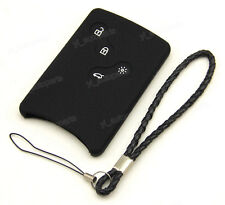 Black Silicone Case For Renault Laguna Megane Koleos Remote Key Card 4 Buttons