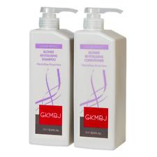 GKMBJ Blonde Revitalising Shampoo & Conditioner 1000ml Removes Yellow Shades