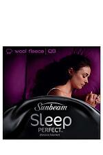 Sunbeam BL5651 Sleep Queen Bed Wool Fleece Heated Blanket