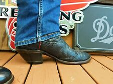 "Tony Lama Tall Buckaroo 16"" Black Classic Mens Western Cowboys Boots 11.5D"