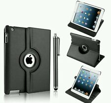 Leather 360 degree rotating smart stand case cover  for APPLE I PAD 2,3,4