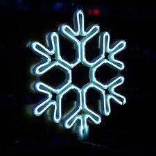 LED Schneeflocke Neonlicht Fensterdeko Weihnachten Weihnachtsdeko Beleuchtung