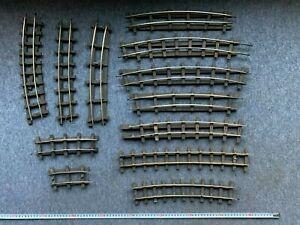 Job Lot O gauge BRASS track rail Vintage Bassett-Lowke Bonds/similar
