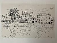 Albert Marquet gravure Paysage Maison La Varenne