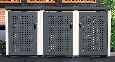 Mülltonnenbox für drei 120-Liter Tonnen, NEU, Stahlblech pulverbeschichtet