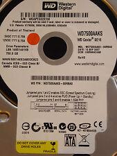 Western Digital WD 7500 caaks - 00rba0/harnna 2aab/15 SEP 2007 750 GB DISCOTECA RIGIDO
