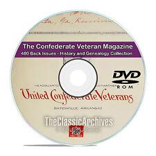 The Confederate Veteran 480 Magazines, Civil War History & Genealogy DVD CD V83