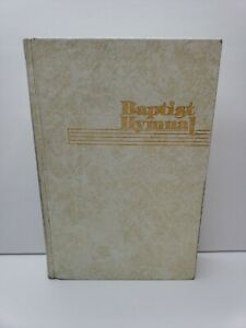 Vintage Baptist Hymnal 1975 White with Gold Page Edges