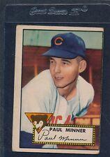 1952 Topps #127 Paul Minner Cubs Fair 52T127-70716-1