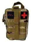 NEW Hiking Tactical MOLLE First Aid IFAK Camo Trauma Kit- stop the bleed