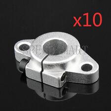10pcs Shf12 12mm Aluminum Rod Holder Linear Rail Shaft Guide Support Cnc Bearing