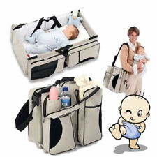 3 in 1 Diaper Tote Bag Travel Bassinet Nappy Changing Station Carrycot Baby Bed