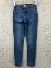 Topshop Moto Jamie Jeans Womens 28x30 High Rise Skinny Medium Wash Denim Blue