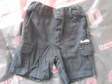 SOUTHPOLE Toddler Boys Black Cargo Shorts Size 2T. Adjustable waist.