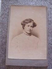 Victorian Cabinet card - Female portrait