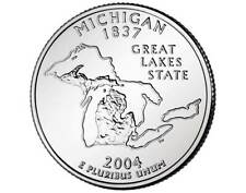 2004 MICHIGAN STATE QUARTER ROLL MINT NEVER OPENED  P issue  roll QUARTERS