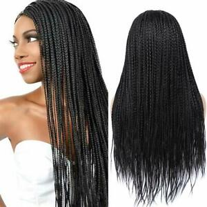 Braided Wigs Black Long Straight Synthetic Twist Braids Wig Natural For Women